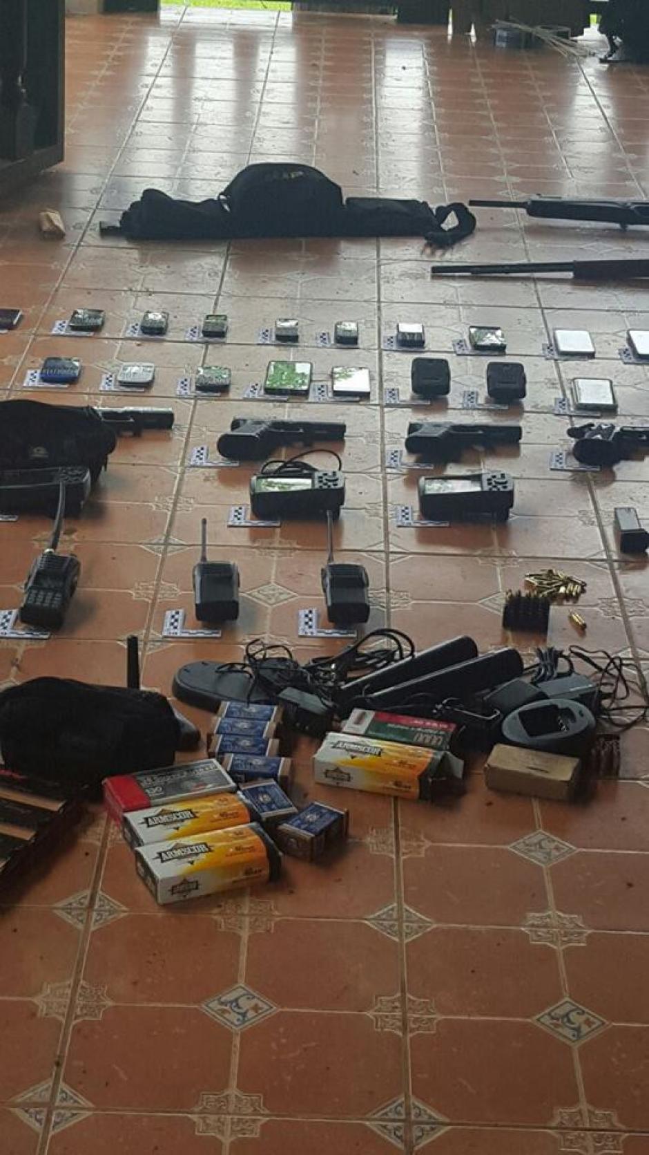 El equipo decomisado, es propio de estructuras de narcotraficantes. (Foto: Policía Nacional Civil (PNC)