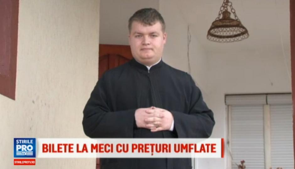 Un sacerdote rumano está siendo investigado por supuestamente ser parte de la reventa de boletos para un juego de fútbol.