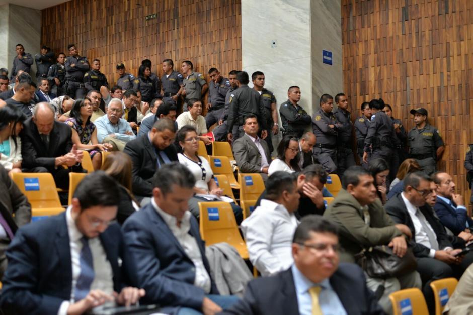 Así se ve la Sala de Vistas de la Torre de Tribunales. (Foto: Wilder López/Soy502)