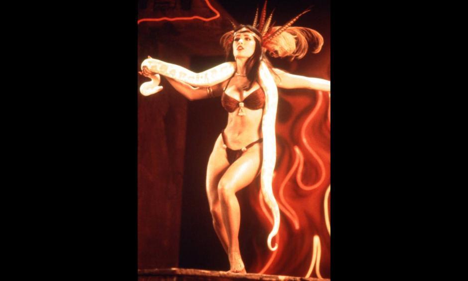 Una de las mayores fobias de Hayek han sido las serpientes, pero logró vencer ese miedo a través de la actuación.