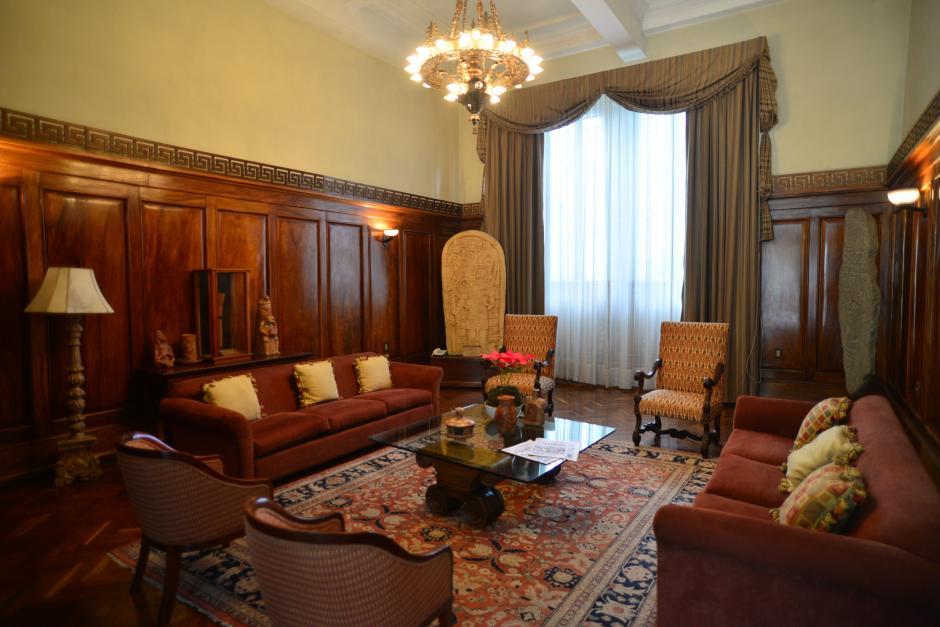Este es el Salón Maya, lugar donde el Presidente recibe a invitados importantes. (Foto: Wilder López/Soy502)