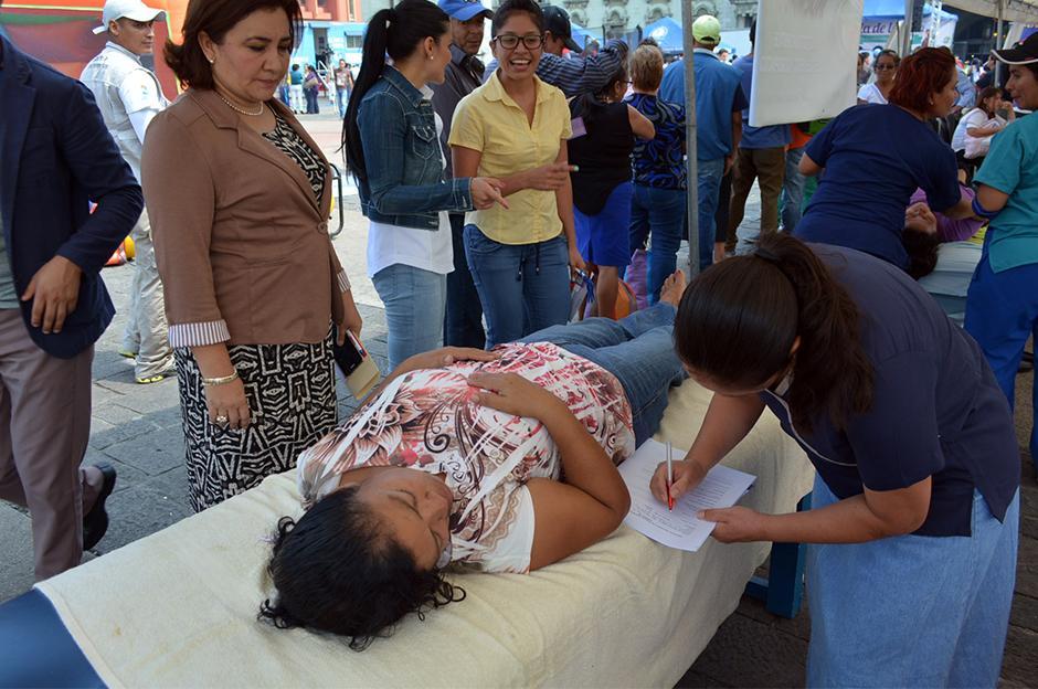 Dentro de las actividades y programas de atención a la población, se midió el peso, talla y nutrición. (Foto: Ministerio de Salud)