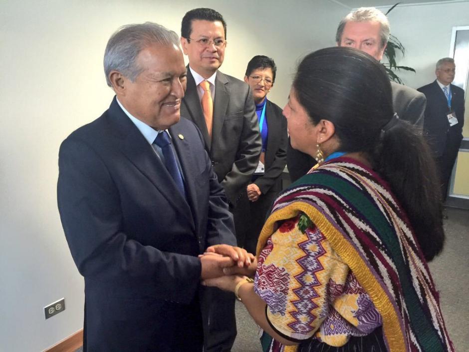 El presidente de El Salvador, Salvador Sánchez Cerén a su arribo al país. (Foto: Jesús Alfonso/Soy502)