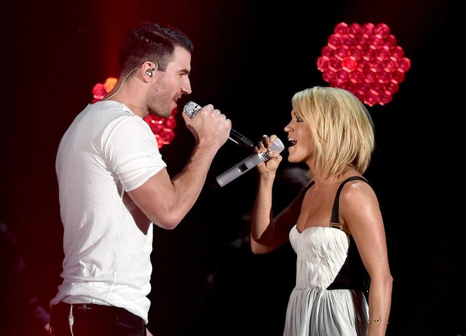 Sam Hunt y Carrie Underwood formaron un dueto inolvidable. (Foto: The Grammys)