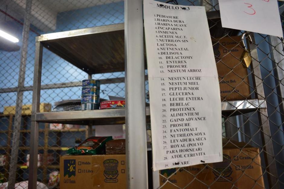 Este es el listado que se debe tener para ciertos módulos donde los pacientes necesitan cierta dieta. (Foto: Jesús Alfonso/Soy502)