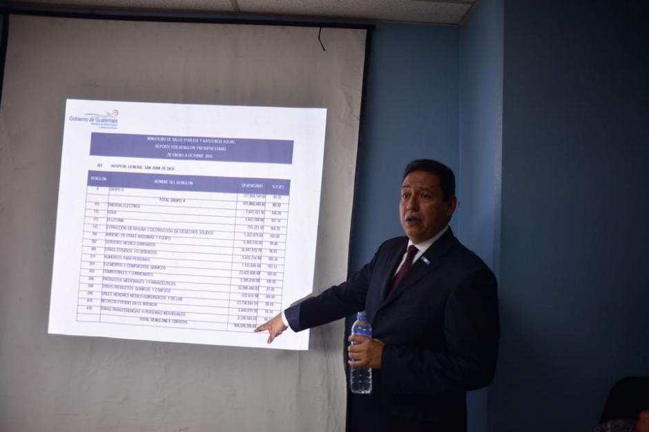 El ministro de Salud Mariano Rayo llegó al Hospital San Juan de Dios para explicar sobre el presupuesto. (Foto: Jesús Alfonso/Soy502)
