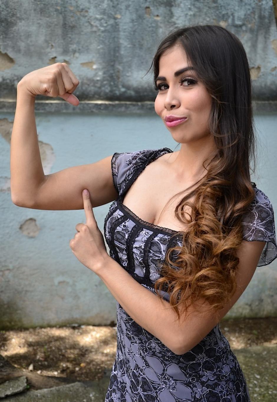 Sandy desea seguir su camino en el modelaje. (Foto: Selene Mejía/Soy052)