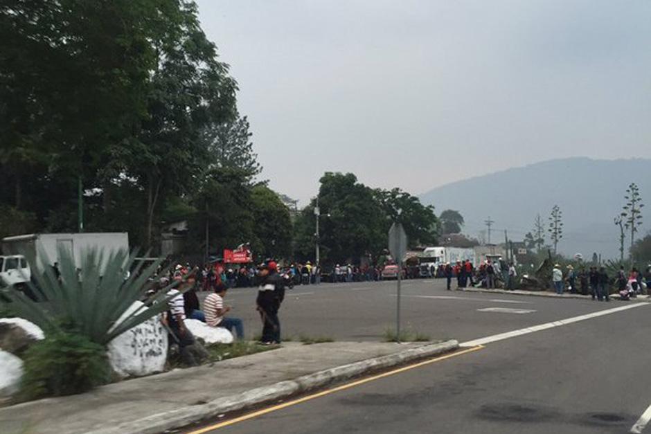 En Cuilapa, Santa Rosa, así como en el Boquerón, también se registran bloqueos. (Foto: TransitoPNC)