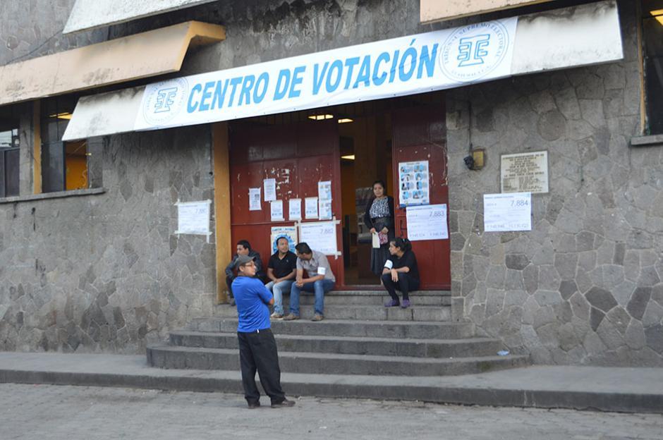 Centro de Votación instalado en Santiago Atitlán, Sololá. (Foto: Nuestro Diario)