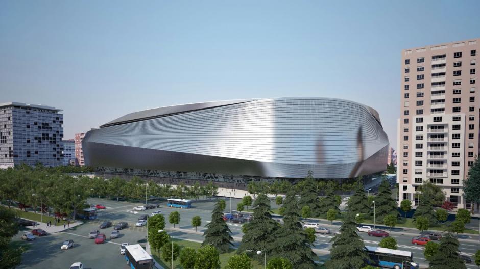El estadio será revestido con un material que podría ser acero. (Imagen: nuevoestadiobernabeu.com)