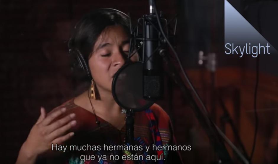 Está dedicada a los guatemaltecos violentados. (Foto: captura de pantalla)
