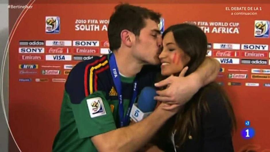 Tras la victoria de España, los tórtolos sorprendieron en plena entrevista. (Foto: ultimahora.es)