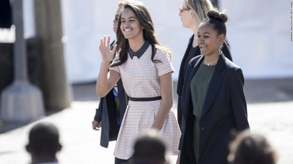 Malia tiene 18 años y su hermana Sasha, 16. (Foto: cnn.com)