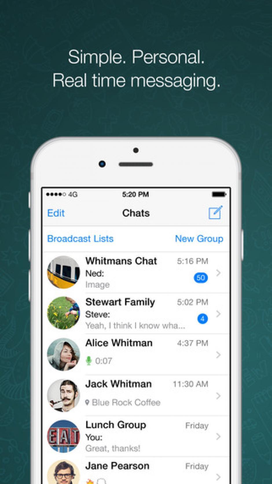 WhatsApp es una de las aplicaciones de mensajería instantánea más usadas. (Foto: WhatsApp)