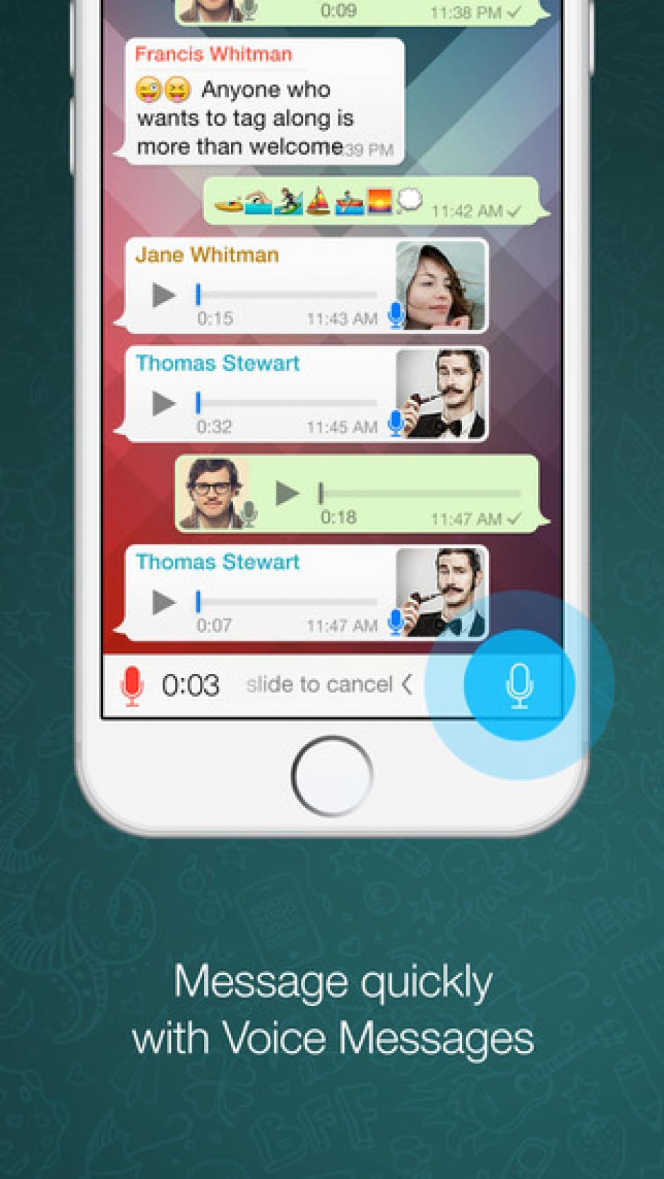 DesdeWhatsApp puedes enviar mensajes de voz.(Foto: WhatsApp)
