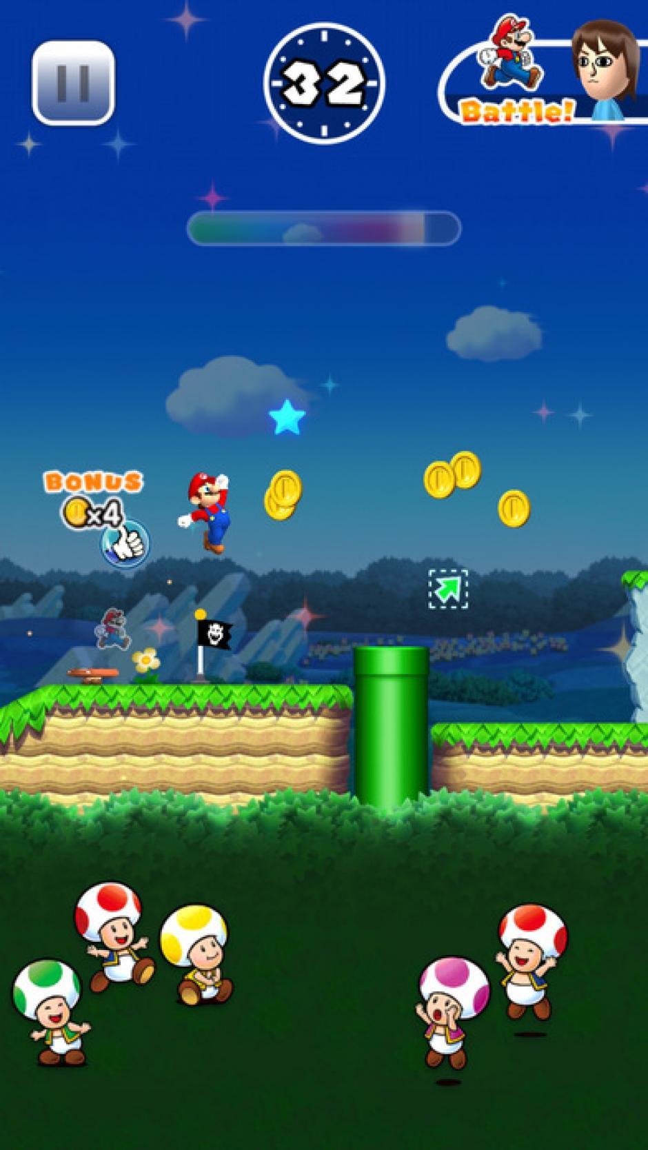 Los jugadores llevaran a Mario por distintos obstáculos. (Foto: mzstatic.com)