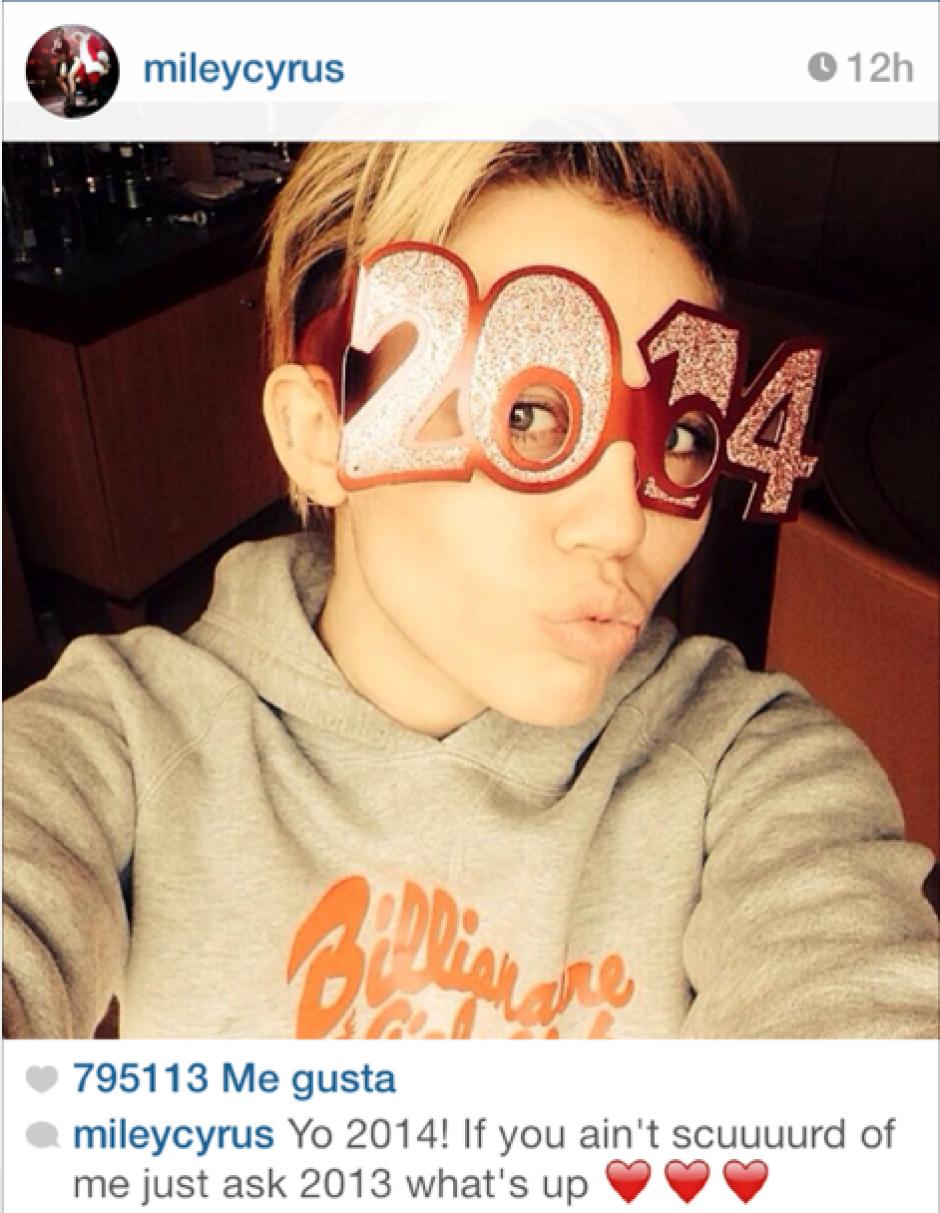 La cantante estadounidense,Miley Cyrus.