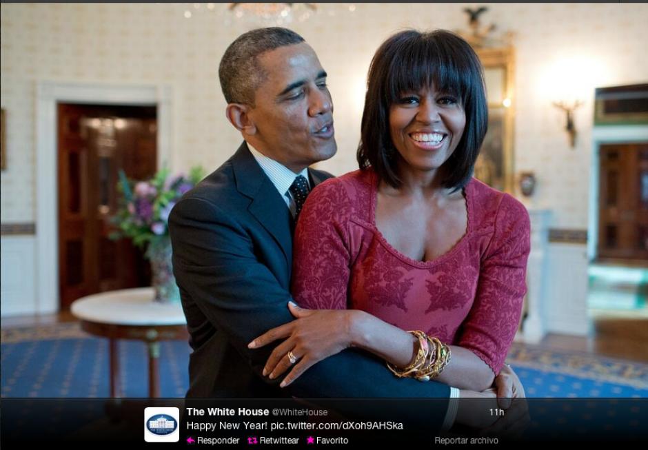 El presidente de los Estados Unidos, Barack Obama junto a su esposa, Michelle Obama.