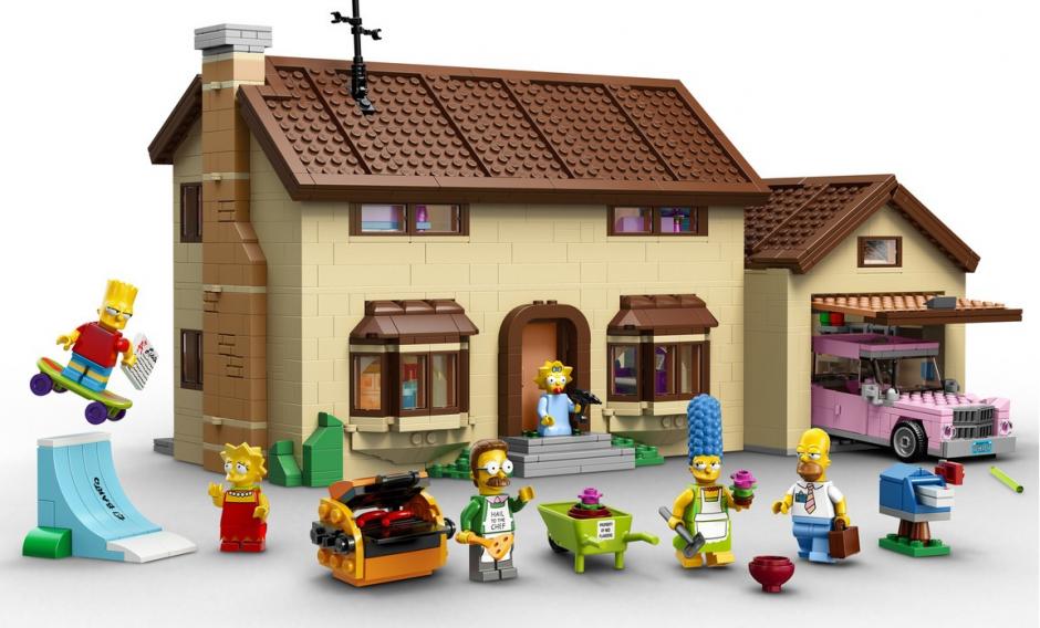 Lego recrea al detalle elementos y personajes de la serie de TV Los Simpons, que pondrá proximamente a la venta.
