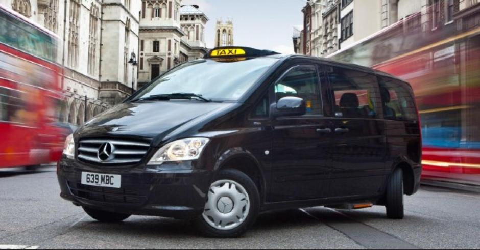 Así se ve el taxi de Marcedes Benz Vito. (Foto: Mercedes)
