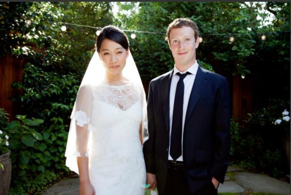 El 20 de mayo de 2012, poco después de que Facebok saliera a bolsa, Mark Zuckerberg se casó con Priscilla Chan, su novia de la universidad.(Tomado de ElPais.com)