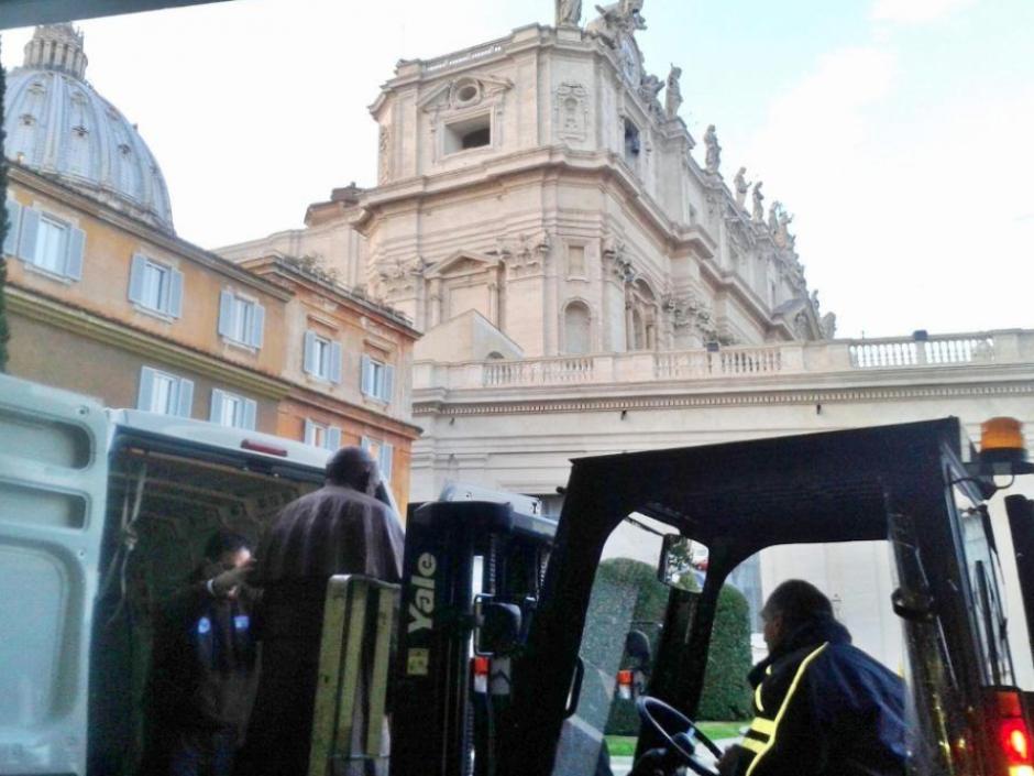 La estatua de chocolate del Papa fue realizada a tamaño real. (Foto: Mirco della Vecchia)