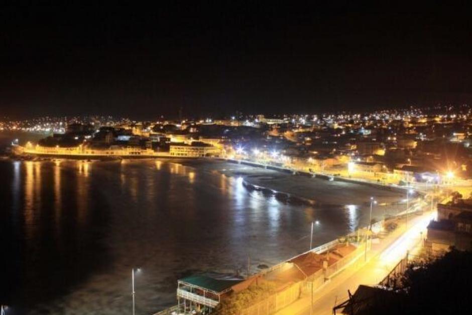 Imagen de la primera ola que golpeó la costa norte de #Chile tras el Terremoto de 8.2.