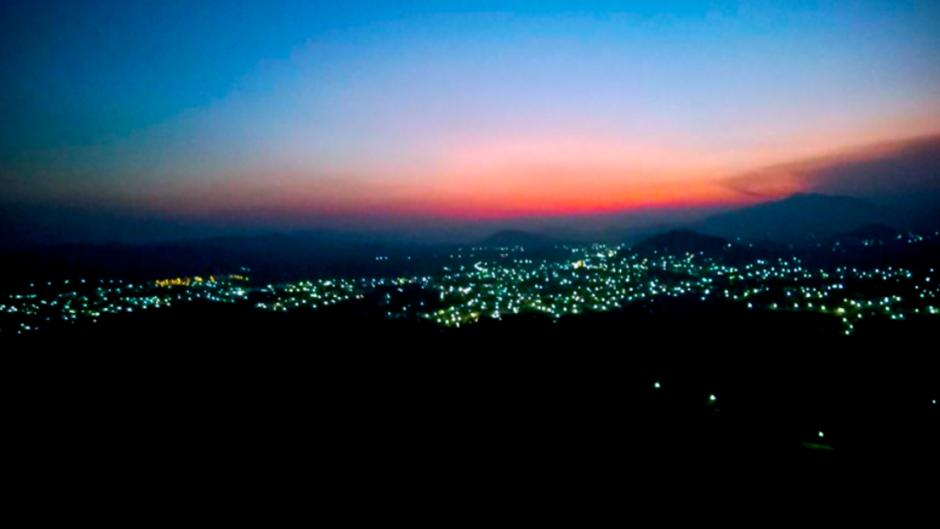 Vista de Jutiapa por la tarde, en una foto de nuestro seguidor Iván Valdez. (Foto: Iván Valdez)