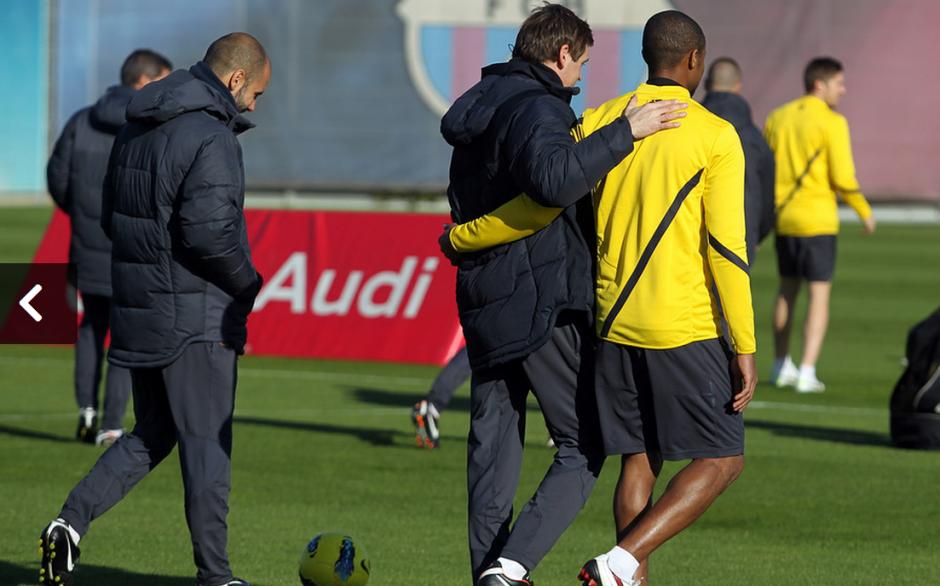 Tito, al igual que Abildal, tenían problemas de salud; el entrenador siempre apoyó al jugador. (Foto: Sitio Oficial Club Barcelona)