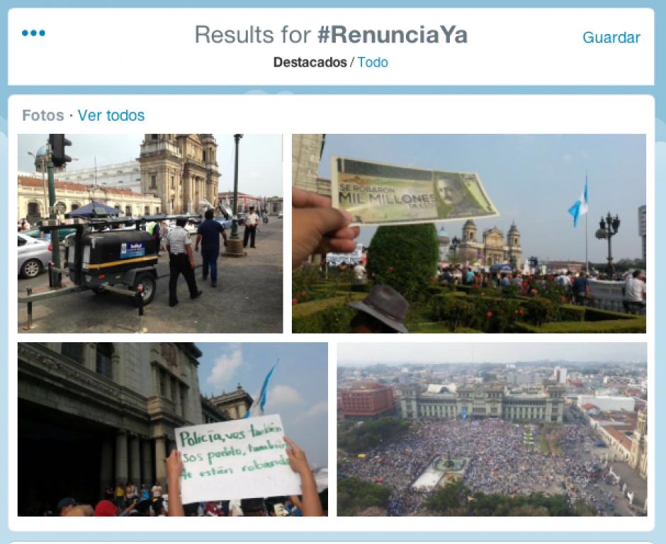 Twitter fue una de las plataformas en donde la gente se expresó y organizó la marcha pacífica