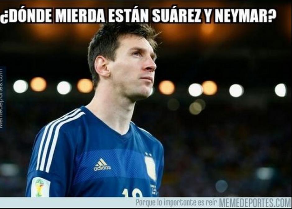 Las diferencias entre el Messi del Barça con el de la Selección, también fueron motivos de bromas.
