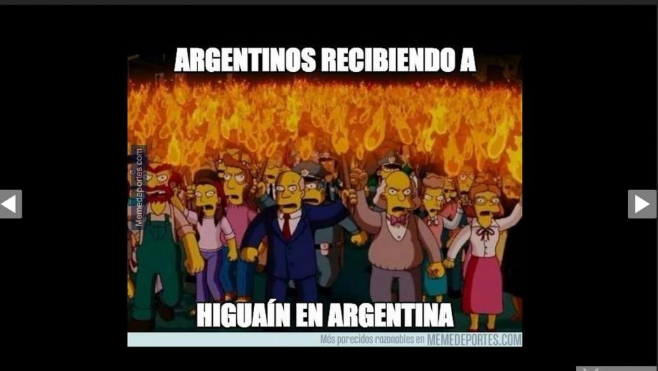 Las críticas contra Higuaín fueron unas de las constantes en los memes.