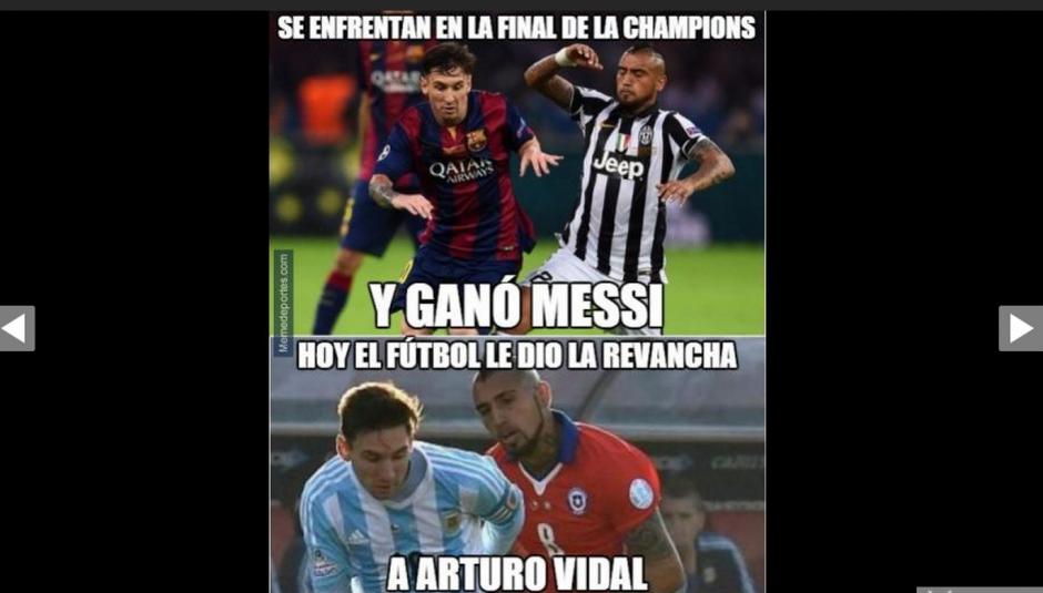 La revancha de Vidal por la final de la Champions también fue comentado.