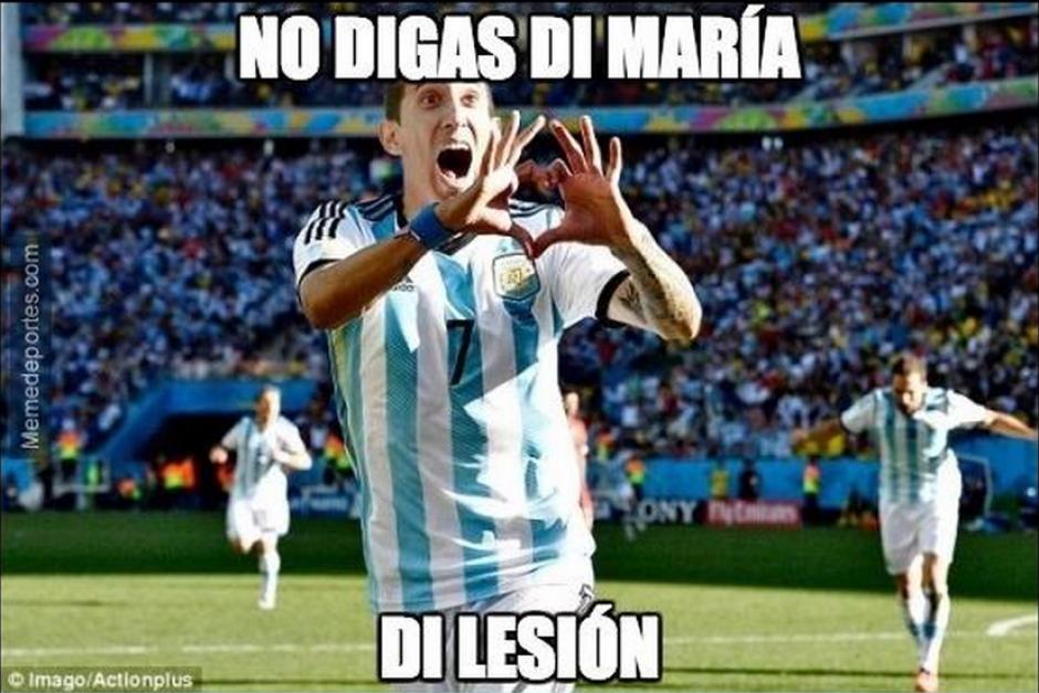 Di María se lesionó y por segunda final consecutiva no aportó a su equipo.