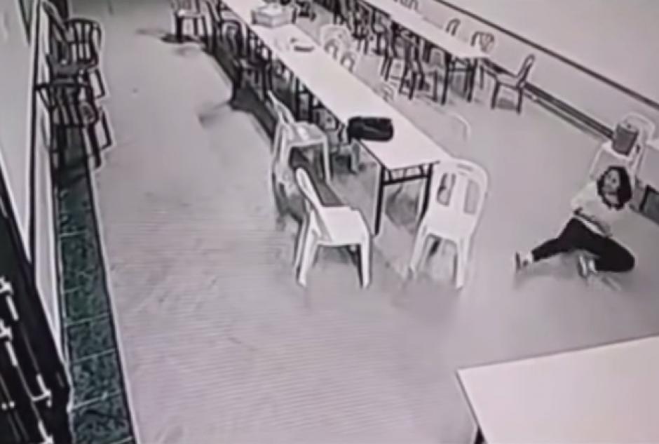 Las imágenes del supuesto fantasma fueron captadas en 2008 por una cámara de seguridad de un hotel