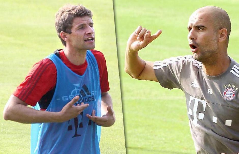 Müller y Guardiola tuvieron una discusión acalorada en el entrenamiento del lunes del Bayern Munich