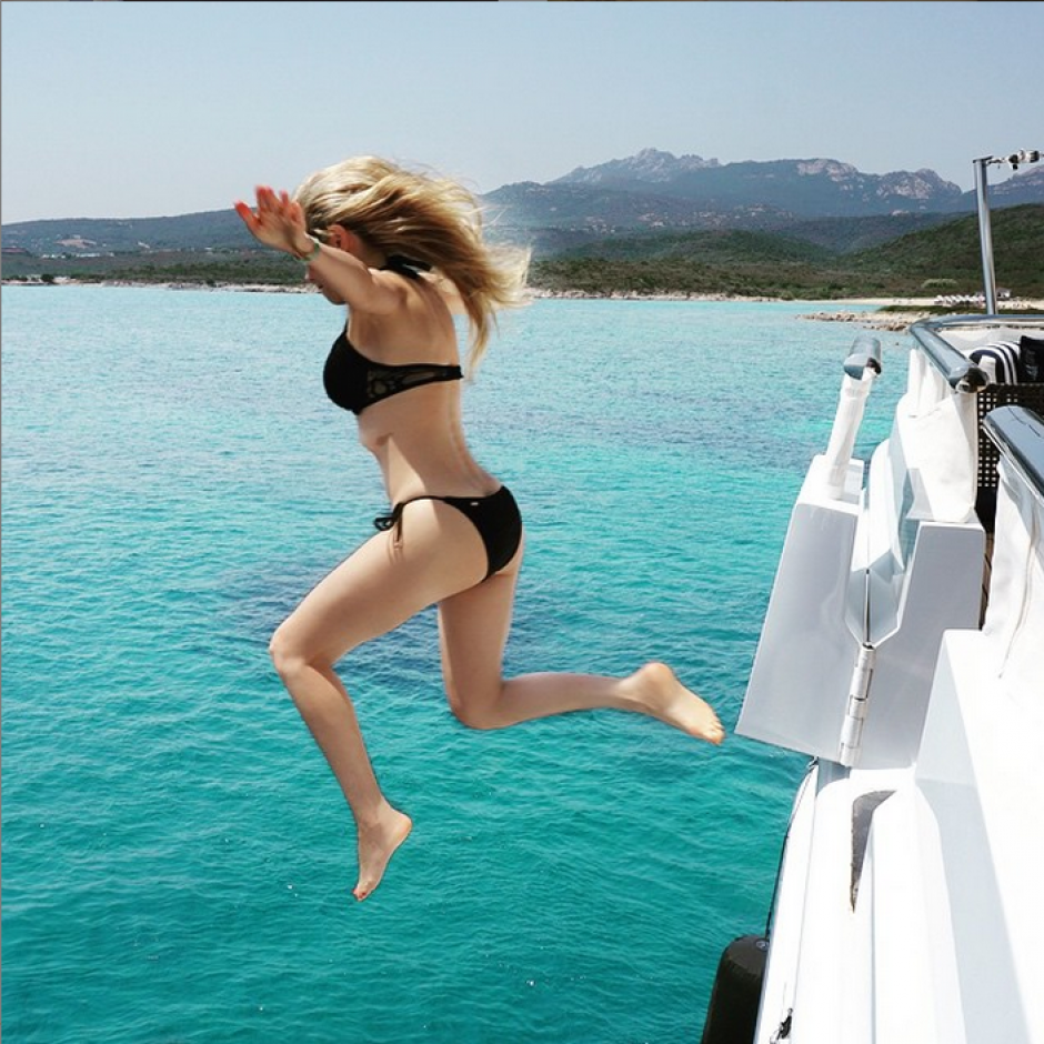 Impresionantes imágenes de Thalía, quien está de vacaciones en Europa.