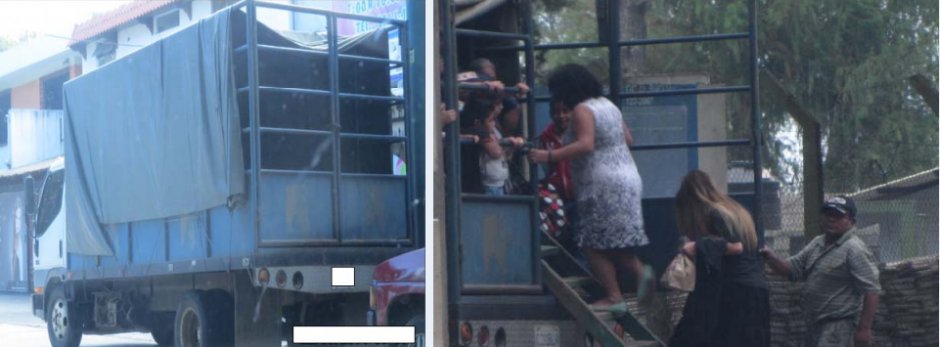 Lima sería dueño de un camión utilizado para el transporte de personas visitantes a los penales. (Foto: Cicig)