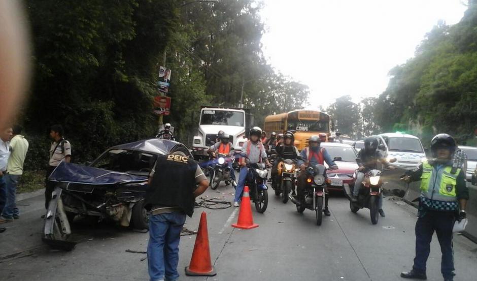 El accidente de tránsito involucra varios vehículos. (Foto: Luis Barrios/Soy502)