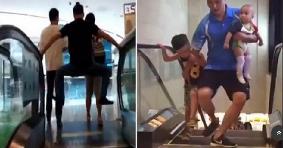Mucha paranoia se ha formado por las escaleras eléctricas. (Foto: YouTube)