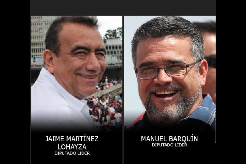 Jaime Martínez y Manuel Barquín son dos de los 10 ex diputados que perdieron la inmunidad y que quedaron arraigados. (Foto: Archivo/Soy502)