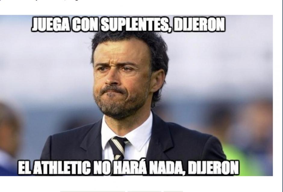 Dependiendo de Messi, Luis Enrique, técnico del Barcelona utilizó a varios elementos de la banca. (Foto: MemeDeportes.com)