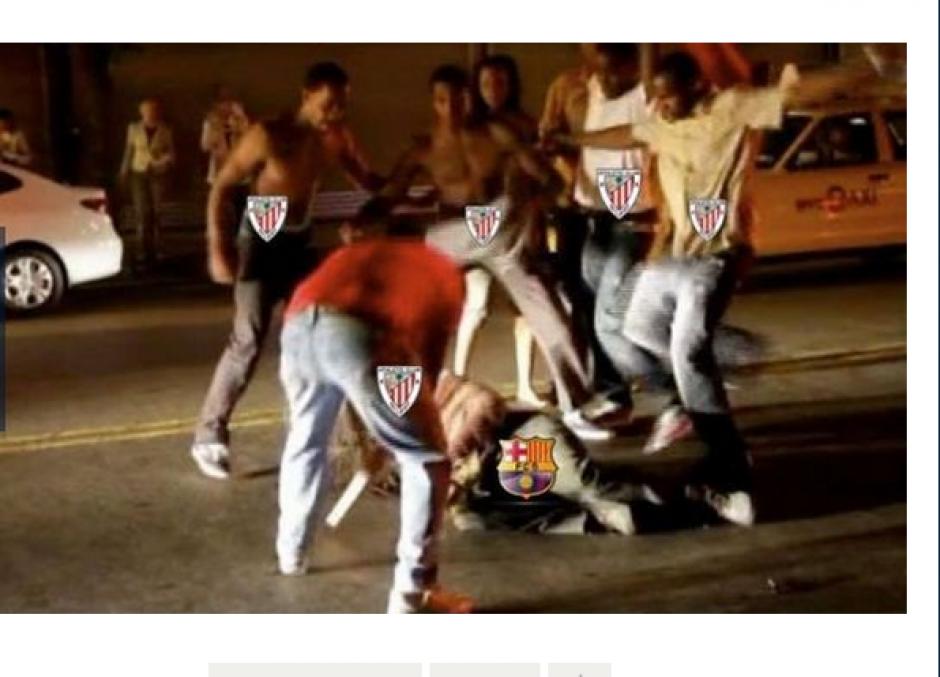 Esta imagen se viralizó en redes sociales luego de la caída del Barcelona en la Supercopa. (Foto: MemeDeportes.com)