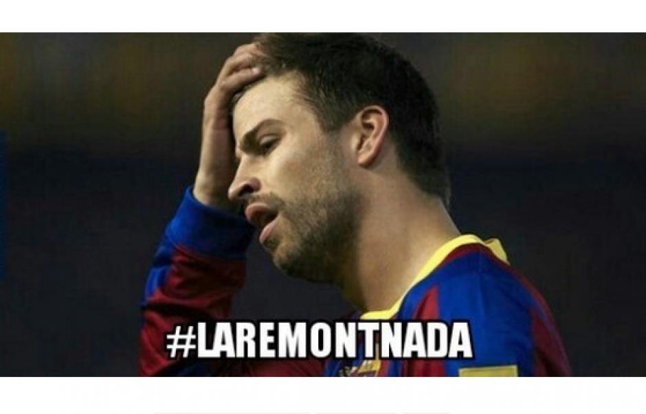 """La expulsión de Piqué fue motivo de """"memes"""" en las redes sociales. (Foto: Memedeportes.com)"""