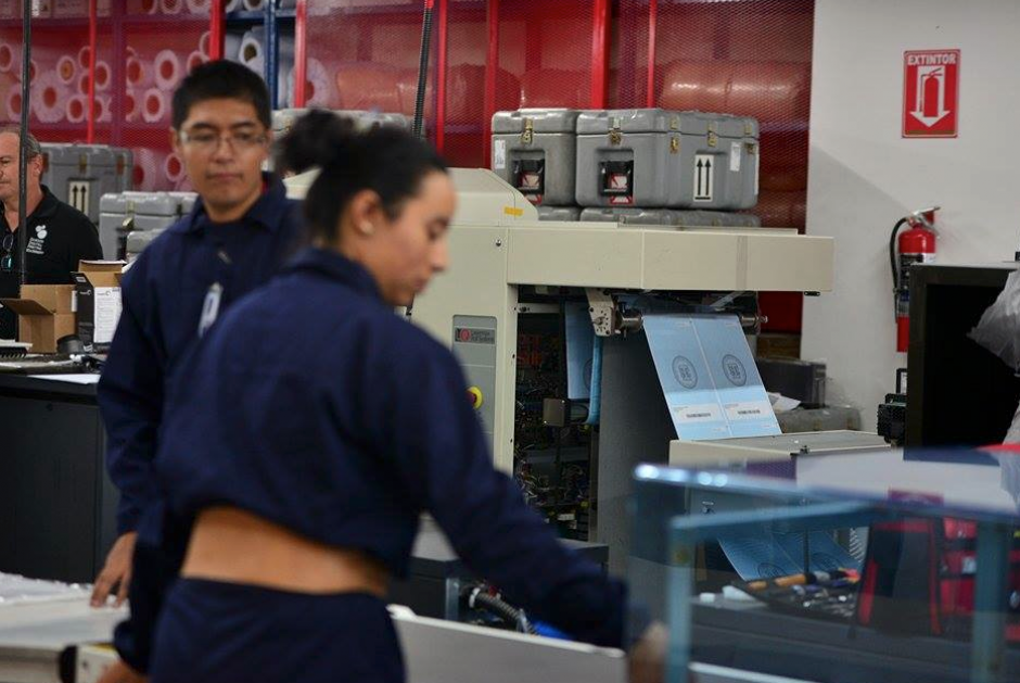 La impresión de las papeletas electorales se está realizando a un promedio de 2.5 millones diarias. (Foto: Wilder López/Soy502)