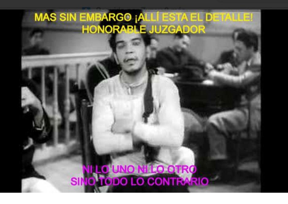 Las frases de Mario Cano, defensa de Roxana Baldetti, fueron usadas para crear varios memes. (Foto: Twitter)