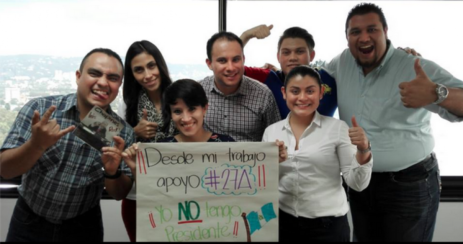 #YoNoTengoPresidente fue el mensaje que enviaron muchos trabajadores que se sumaron al paro Nacional. (Foto: Facebook)