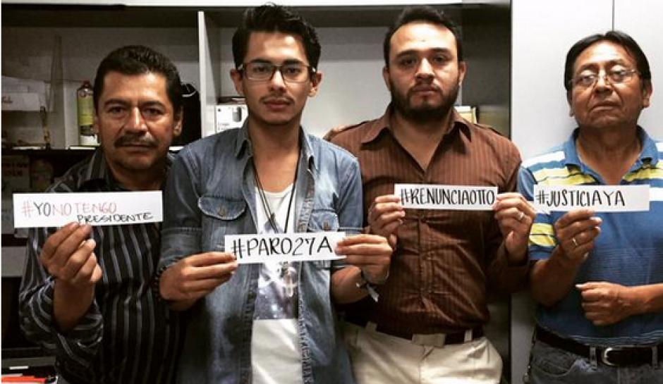 Los ciudadanos guatemaltecos continuaron sus labores pero fueron solidaros con el paro Nacional. (Foto: Twitter)