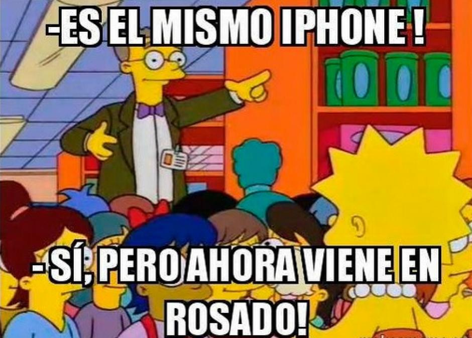 Los nuevos iPhones estarán disponibles en color rosado. (Imagen: Twitter)