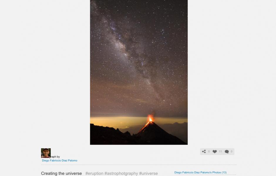 Esta es la fotografía con la que Fabriccio Díaz está intentando poner a Guatemala en la portada de National Geographic